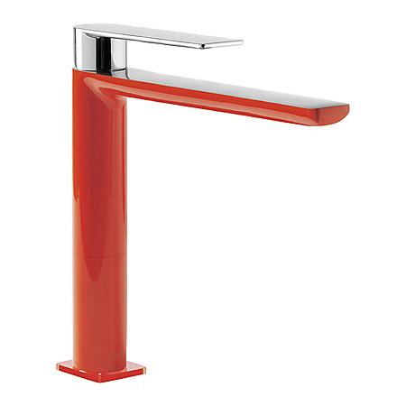 Tres Loft-Colors Jednouchwytowa bateria umywalkowa stojąca z dźwignią, czerwona 200.203.03.RO.D