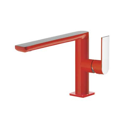 Tres Loft-Colors Jednouchwytowa bateria umywalkowa stojąca z dźwignią, czerwona 200.205.01.RO.D