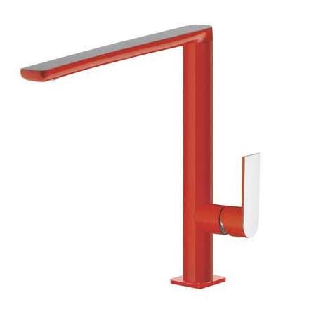 Tres Loft-Colors Jednouchwytowa bateria umywalkowa stojąca z dźwignią, czerwona 200.205.03.RO.D
