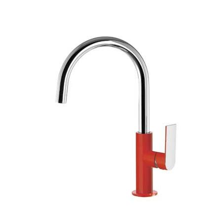 Tres Loft-Colors Jednouchwytowa bateria umywalkowa stojąca z dźwignią, czerwona 200.205.05.RO.D