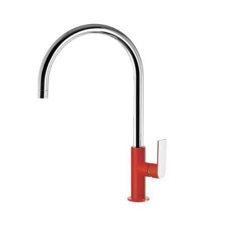 Tres Loft-Colors Jednouchwytowa bateria umywalkowa stojąca z dźwignią, czerwona 200.205.06.RO.D