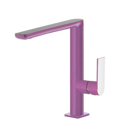 Tres Loft-Colors Jednouchwytowa bateria umywalkowa stojąca z dźwignią, fioletowa 200.205.02.VI.D