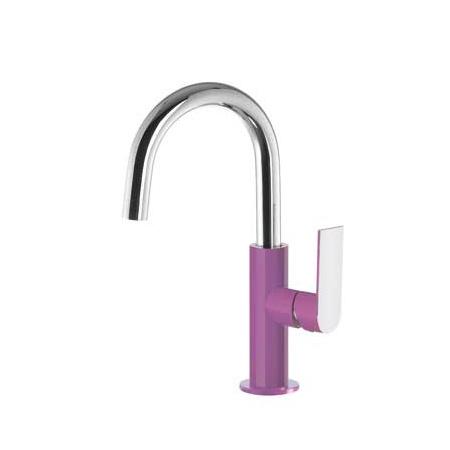 Tres Loft-Colors Jednouchwytowa bateria umywalkowa stojąca z dźwignią, fioletowa 200.205.04.VI.D