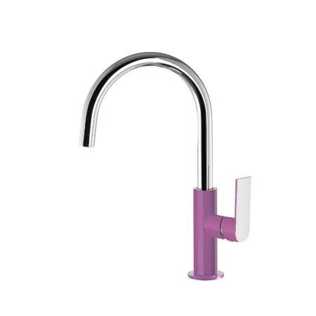 Tres Loft-Colors Jednouchwytowa bateria umywalkowa stojąca z dźwignią, fioletowa 200.205.05.VI.D