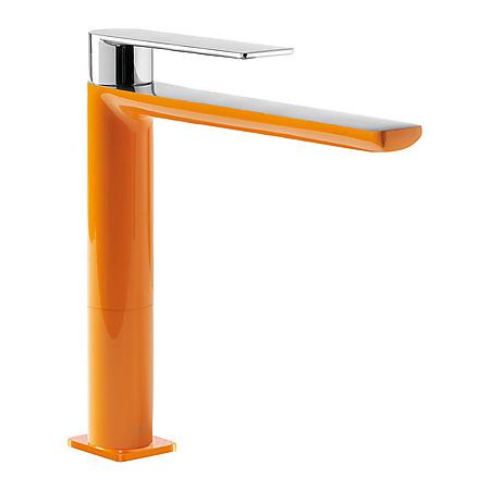 Tres Loft-Colors Jednouchwytowa bateria umywalkowa stojąca z dźwignią, pomarańczowa 200.203.03.NA.D