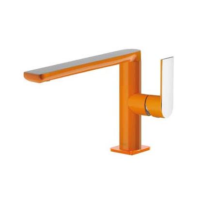 Tres Loft-Colors Jednouchwytowa bateria umywalkowa stojąca z dźwignią, pomarańczowa 200.205.01.NA.D