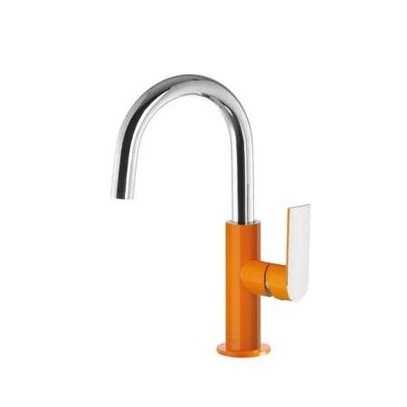 Tres Loft-Colors Jednouchwytowa bateria umywalkowa stojąca z dźwignią, pomarańczowa 200.205.04.NA.D