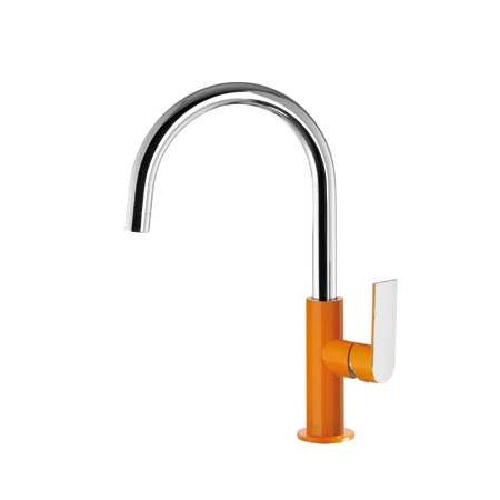 Tres Loft-Colors Jednouchwytowa bateria umywalkowa stojąca z dźwignią, pomarańczowa 200.205.05.NA.D