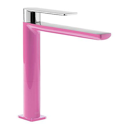Tres Loft-Colors Jednouchwytowa bateria umywalkowa stojąca z dźwignią, różowa fuksja 200.203.03.FU.D