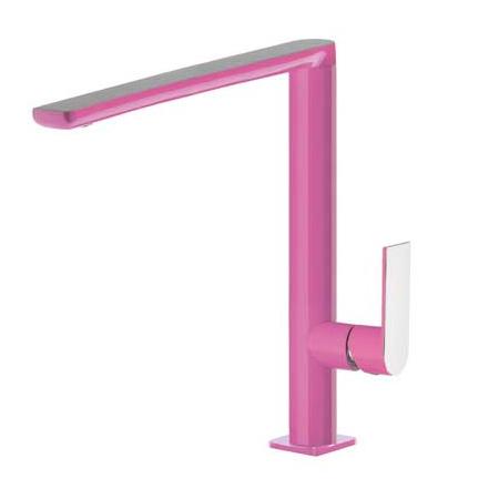 Tres Loft-Colors Jednouchwytowa bateria umywalkowa stojąca z dźwignią, różowa fuksja 200.205.03.FU.D