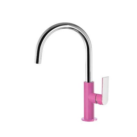 Tres Loft-Colors Jednouchwytowa bateria umywalkowa stojąca z dźwignią, różowa fuksja 200.205.05.FU.D
