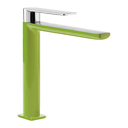 Tres Loft-Colors Jednouchwytowa bateria umywalkowa stojąca z dźwignią, zielona 200.203.03.VE.D