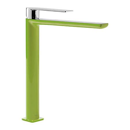Tres Loft-Colors Jednouchwytowa bateria umywalkowa stojąca z dźwignią, zielona 200.203.05.VE.D