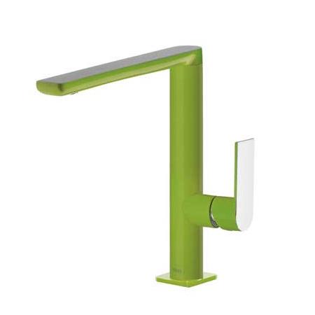 Tres Loft-Colors Jednouchwytowa bateria umywalkowa stojąca z dźwignią, zielona 200.205.02.VE.D