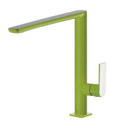 Tres Loft-Colors Jednouchwytowa bateria umywalkowa stojąca z dźwignią, zielona 200.205.03.VE.D