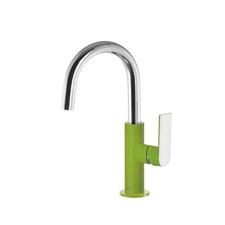 Tres Loft-Colors Jednouchwytowa bateria umywalkowa stojąca z dźwignią, zielona 200.205.04.VE.D
