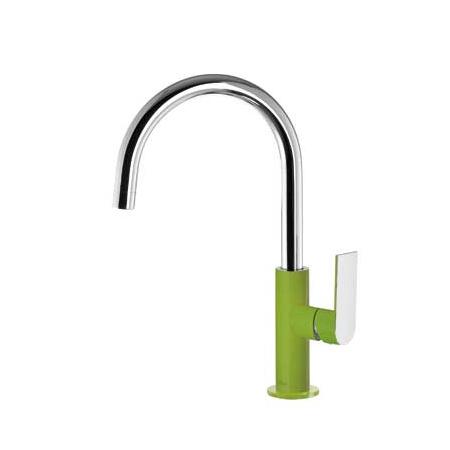 Tres Loft-Colors Jednouchwytowa bateria umywalkowa stojąca z dźwignią, zielona 200.205.05.VE.D