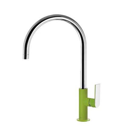 Tres Loft-Colors Jednouchwytowa bateria umywalkowa stojąca z dźwignią, zielona 200.205.06.VE.D