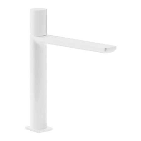 Tres Loft-Colors Jednouchwytowa bateria umywalkowa stojąca z pokrętłem, biała matowa 200.203.04.BM.D