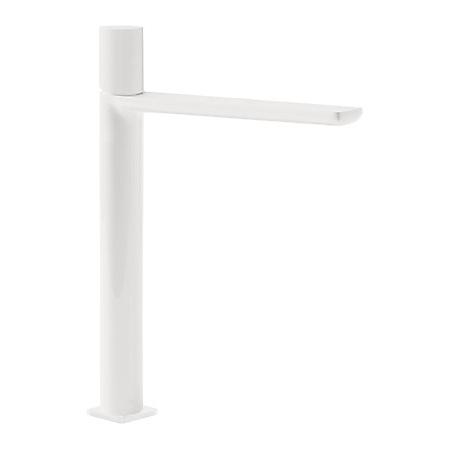 Tres Loft-Colors Jednouchwytowa bateria umywalkowa stojąca z pokrętłem, biała matowa 200.203.06.BM.D
