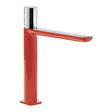 Tres Loft-Colors Jednouchwytowa bateria umywalkowa stojąca z pokrętłem, czerwona 200.203.04.RO.D