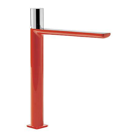 Tres Loft-Colors Jednouchwytowa bateria umywalkowa stojąca z pokrętłem, czerwona 200.203.06.RO.D