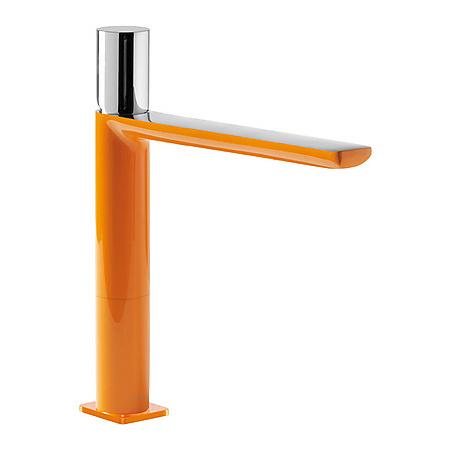 Tres Loft-Colors Jednouchwytowa bateria umywalkowa stojąca z pokrętłem, pomarańczowa 200.203.04.NA.D