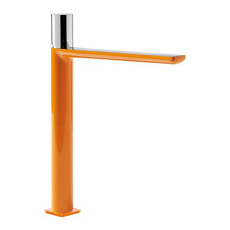 Tres Loft-Colors Jednouchwytowa bateria umywalkowa stojąca z pokrętłem, pomarańczowa 200.203.06.NA.D
