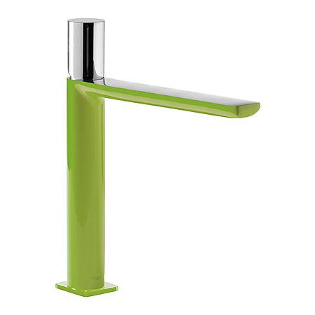 Tres Loft-Colors Jednouchwytowa bateria umywalkowa stojąca z pokrętłem, zielona 200.203.04.VE.D