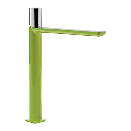 Tres Loft-Colors Jednouchwytowa bateria umywalkowa stojąca z pokrętłem, zielona 200.203.06.VE.D