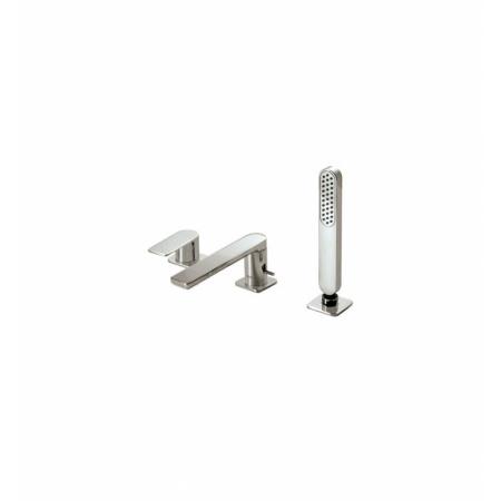 Tres Loft-Colors Jednouchwytowa bateria wannowo-prysznicowa 3-otworowa stojąca z dźwignią, stalowa 200.162.03.AC