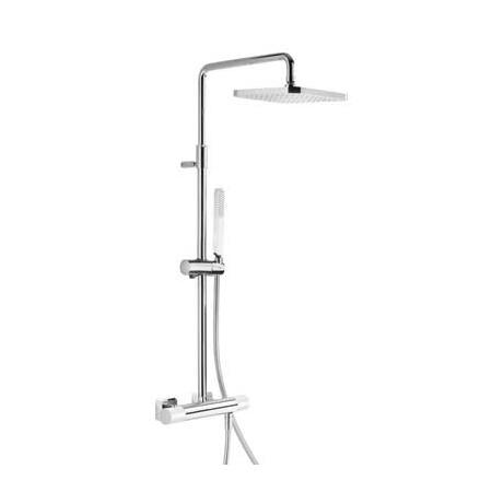 Tres Loft-Colors Zestaw prysznicowy z baterią termostatyczną i deszczownicą, biały 200.195.01.BL
