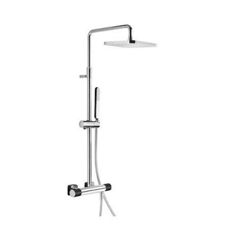 Tres Loft-Colors Zestaw prysznicowy z baterią termostatyczną i deszczownicą, czarny 200.195.01.NE