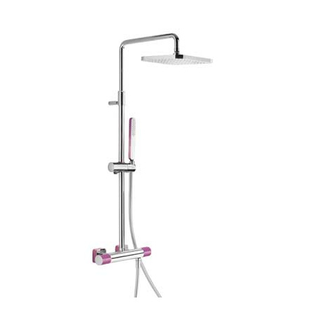 Tres Loft-Colors Zestaw prysznicowy z baterią termostatyczną i deszczownicą, fioletowy 200.195.01.VI