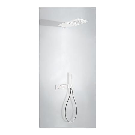 Tres Loft-Colors Zestaw prysznicowy podtynkowy z baterią termostatyczną i z pokrętłem, biały/matowy 207.352.02.BM