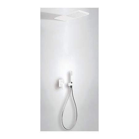 Tres Loft-Colors Zestaw prysznicowy podtynkowy z dźwignią, biały/matowy 200.180.05.BM