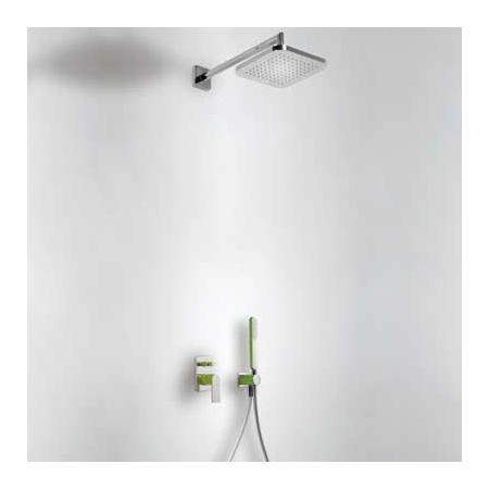 Tres Loft-Colors Zestaw prysznicowy podtynkowy z dźwignią, zielony 200.180.02.VE