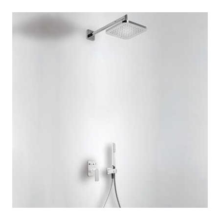 Tres Loft-Colors Zestaw prysznicowy z baterią podtynkową i deszczownicą, biały 200.180.02.BL