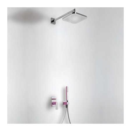 Tres Loft-Colors Zestaw prysznicowy z baterią podtynkową i deszczownicą, fioletowy 200.180.02.VI