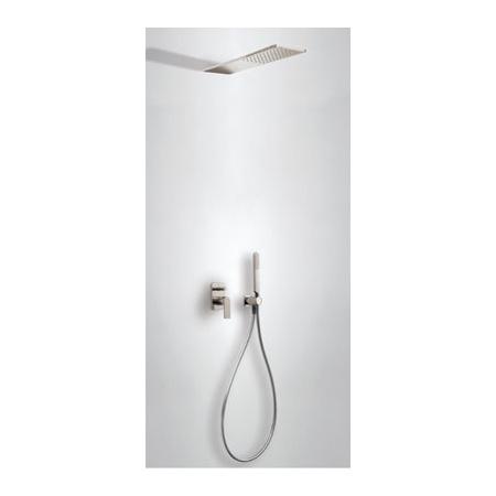 Tres Loft-Colors Zestaw prysznicowy z baterią podtynkową i deszczownicą, stalowy 200.180.05.AC