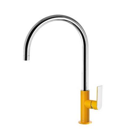 Tres Loft Exclusive Jednouchwytowa bateria kuchenna stojąca, żółta bursztynowa 200.440.02.AM