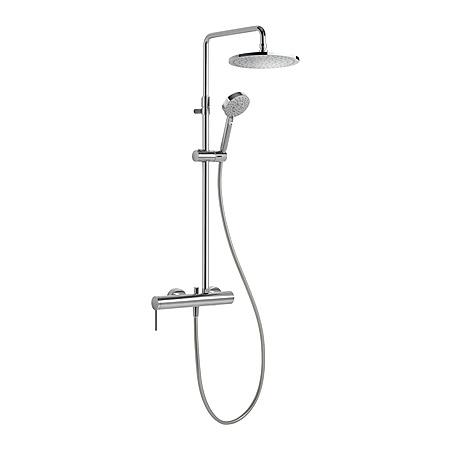 Tres Mono-Term Zestaw prysznicowy natynkowy z dźwignią, chrom 201.195.01