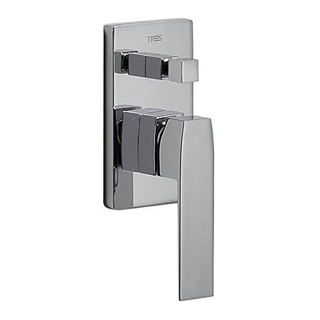 Tres Slim-Tres Jednouchwytowa bateria wannowo-prysznicowa podtynkowa z dźwignią, chrom 202.180.01