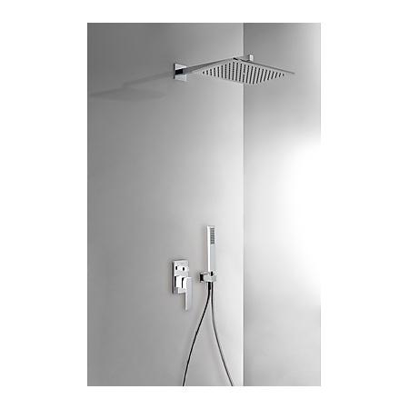 Tres Slim Exclusive Zestaw prysznicowy podtynkowy z dźwignią, biały/chrom 202.180.06.BL