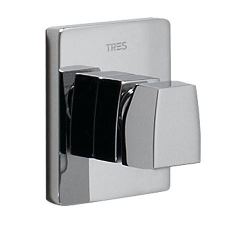 Tres Slim-Tres Jednouchwytowa bateria prysznicowa podtynkowa z pokrętłem, chrom 202.177.02