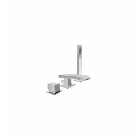 Tres Slim-Tres Jednouchwytowa bateria wannowo-prysznicowa 3-otworowa stojąca z dźwignią, chrom 202.661.02