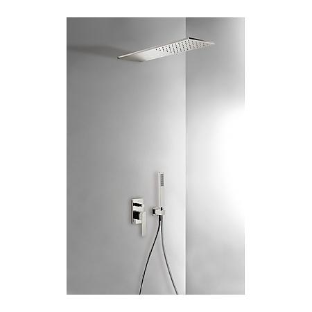 Tres Slim-Tres Zestaw prysznicowy z baterią podtynkową i deszczownicą, stalowy 202.180.03.AC