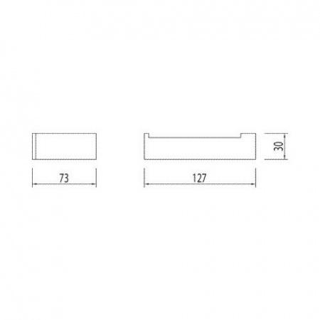 Tres Slim-Tres Uchwyt na papier toaletowy, chrom 202.636.12