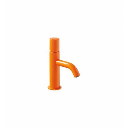 Tres Study-Colors Jednouchwytowa bateria umywalkowa stojąca z pokrętłem, pomarańczowa 261.903.01.TNA.D