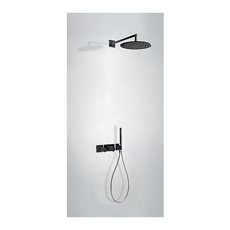 Tres Study-Colors Zestaw prysznicowy podtynkowy z baterią termostatyczną i z pokrętłem, czarny/chrom 207.352.01.TNE